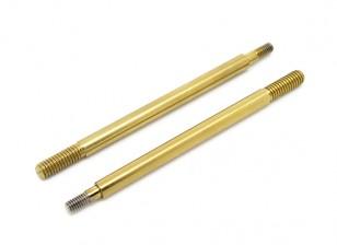 Hard coated front shock central shaft - Basher SaberTooth 1/8 Scale (2pcs)