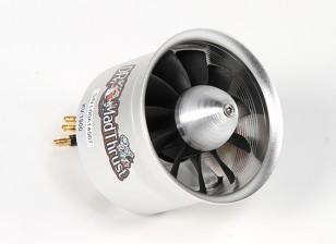 Dr. Mad Thrust 70mm 11-Blade Alloy EDF 1900kv Motor - 1900watt (6S) (Counter Rotating)