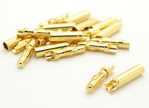 4mm Easy Solder Gold Connectors (10 pairs)