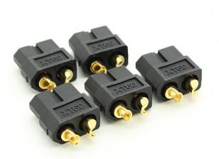 Black XT60 Female Connectors (5pcs)