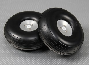 Lightweight Alloy Scale Wheel Assembly 126mm (5 inch) (2pc)