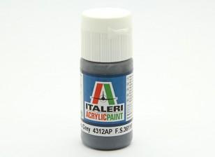 Italeri Acrylic Paint - Flat Extra Dark Sea Grey (4312AP)