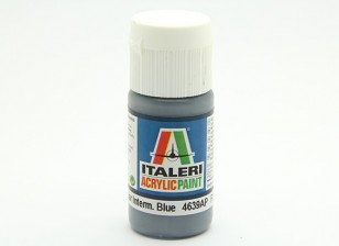 Italeri Acrylic Paint - Flat Non Specular Intermed Blue (4639AP)