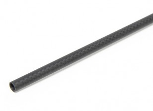 8 x 6 x 750mm Carbon Fibre Tube (3K) Plain Weave Matt Finish