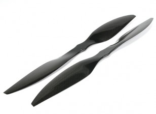 Multistar Carbon Fiber High Efficiency Light Core Propeller 25x6.5 Black (CW/CCW) (2pcs)