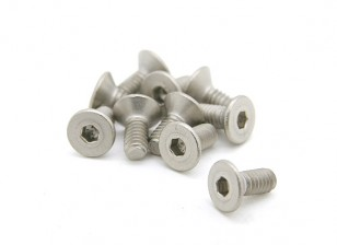 Titanium M2.5 x 6mm Countersunk Hex Screw (10pcs/bag)