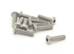 Titanium M3 x 12mm Dome Head Hex Screw (10pcs/bag)
