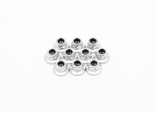 M3 Flange Nylon Lock Nut (10pcs) - BSR Racing BZ-222 1/10 2WD Racing Buggy