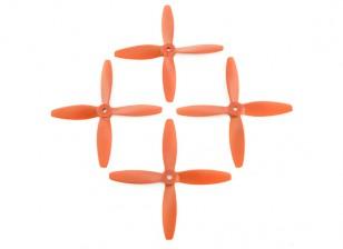 Lumenier FPV Racing Propellers 5040 4-Blade Orange (CW/CCW) (2 Pairs)