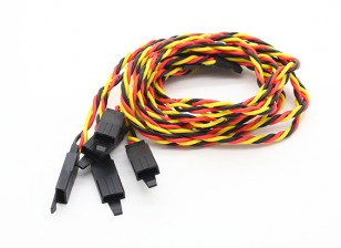 Twisted 45cm Servo Lead Extention (JR) with hook 22AWG (5pcs/bag)