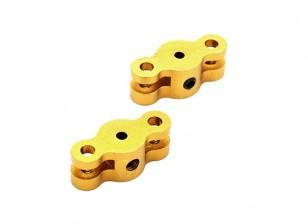 21mm Folding Propeller Adapter for 2mm Shaft (Gold) 1 Pair