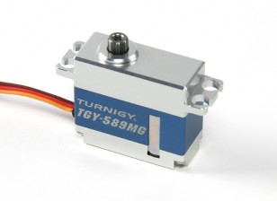 Turnigy™ TGY-589MG High Torque HV/BB/DS/MG Servo w/Alloy Case 25T 8kg / 0.09sec / 40g