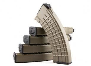 King Arms 600rounds Waffle Pattern magazines for Marui AK AEG (Dark Earth, 5pcs/ box)