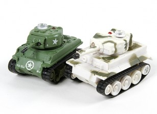Infrared Control Micro Combat Tanks Set (M4 Sherman & German Tiger 1)