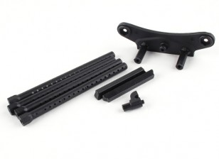 BSR Racing M.RAGE 4WD M-Chassis - Front Bumper Holder and Body Mount