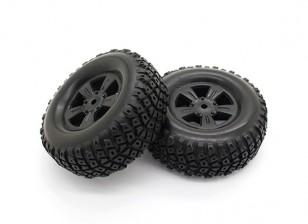 Tires Set - Basher PBull 1/18 4WD Desert Buggy (2pcs)