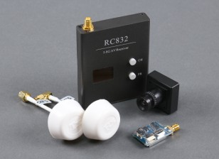 Skyzone Plug & Play FPV 200-Set With TS5823 TX, RC832 RX, Sony CCD and Circular Polarized Antennas