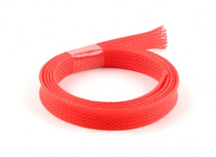 Wire Mesh Guard Neon Red 10mm (1m)