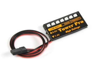 LED Rx Voltage Battery Checker 6.6~7.4V LiPoly/LiFe