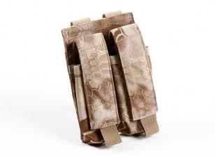SWAT 500D Nylon Molle Handgun Double Mag Pouch (Kryptek Nomad)