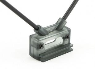 HobbyKing Receiver Antenna Mount Dual 45deg with Direct or Clip Mount