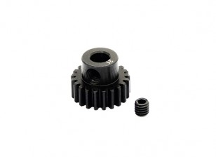HobbyKing™ 0.7M Hardened Steel Helicopter Pinion Gear 5mm Shaft - 21T