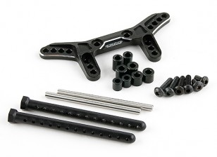 Active Hobby Tamiya TT-02 Reversible Suspension Conversion Kit - Rear (Black)