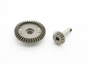 Steel 16T/40T Diff. Gear - BZ-444 Pro 1/10 4WD Racing Buggy