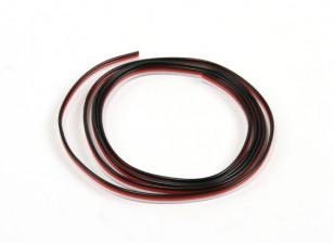 Flat 26AWG servo wire 100cm (R/B/W)