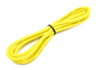 Turnigy High Quality 14AWG Silicone Wire 1m (Yellow)