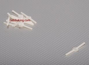 Super Light Pivot & Round Hinges D3xW10xL48mm (10pcs/set)