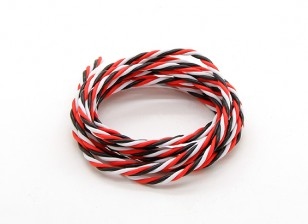 Twisted 22AWG Servo Wire Red/Black/White (200cm)
