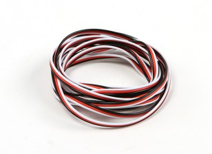 Flat 26AWG servo wire 200cm (R/B/W)