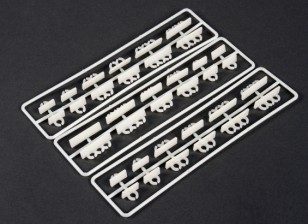 Horizontal Mount Cable Tidy Clip Set (36 piece)