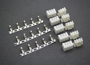 (2S) 3 Pin JST-XH Balancer Connectors Male/Female (5 pairs)