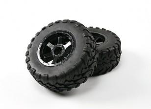 Desert Fox 2.2 SC Truck Pre-Glued Tyre (2 sets)