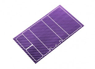 TrackStar Decorative Battery Cover Panels for 2S Shorty Pack Metallic Purple Carbon Pattern (1 Pc)