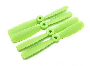 Diatone Bull Nose Plastic Propellers 5 x 4.5 (CW/CCW) (Green) (2 Pairs)