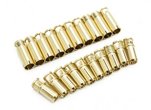 6mm Supra X Gold Bullet Connectors (10 pairs)