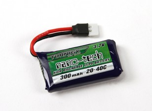 Turnigy nano-tech 300mAh 1S 20~40C Lipo Pack (Losi Mini Compatible)