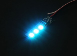 3 RGB LED 7 Color Board 5V with Futaba Style Plug