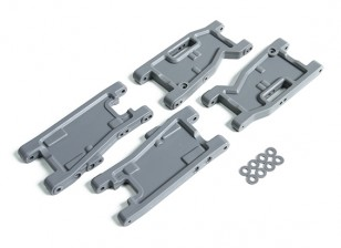 Upgrade Front & Rear Arms V2 - BSR Racing BZ-222 1/10 2WD Racing Buggy