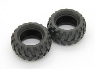 Tires (2pcs) - Basher RockSta 1/24 4WS Mini Rock Crawler