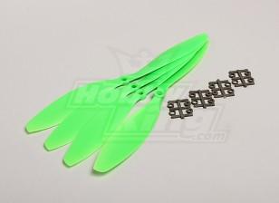 GWS Style Slowfly Propeller 11x4.7 Green (CW) (4pcs)
