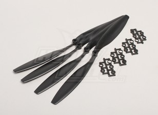 GWS Style Slowfly Propeller 12x4.5 Black (CCW) (4pcs)