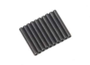 Screw Grub Hex M3x22mm Machine Thread Steel Black (10pcs)