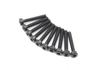 Screw Socket Head Hex M2 X 12mm Machine Steel Black (10pcs)