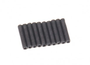Screw Grub Hex M2 X 10mm Machine Steel Black (10pcs)
