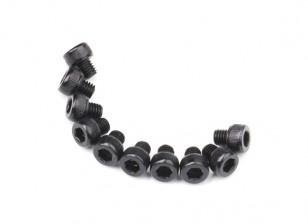 Screw Socket Head Hex M5 x 5mm Machine Steel Black (10pcs)