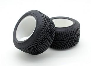 GPM Racing 1/16 Mini E Revo F/R Rubber Radial Tire w/Insert (40g) (Onroad) (1pr)